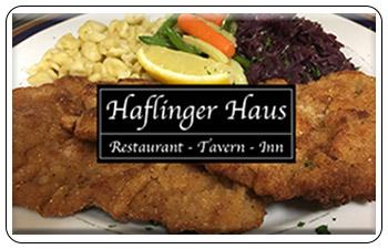 Haflinger Haus Restaurant Gift Cards<br>Adams, MA